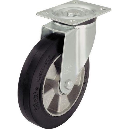 Zwenkwiel met grondplaat - draagvermogen 180 tot 550 kg