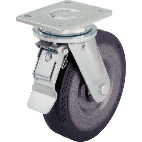 Zwenkwiel met grondplaat geremd - Draagvermogen 180 tot 900 kg