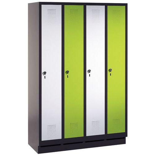 Garderobekast Evolo - 2 tot 4 kolommen breedte 300 mm - Op voet