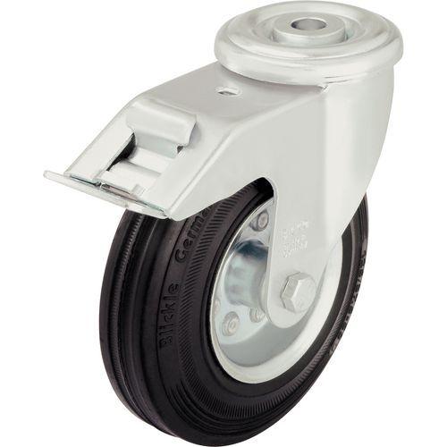 Zwenkwiel met boutgat geremd - Draagvermogen 50 tot 205 kg
