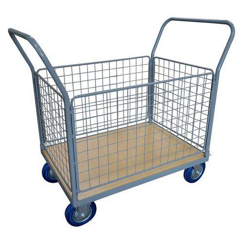 Plateauwagen met 4 gaaswanden 250 en 500 kg