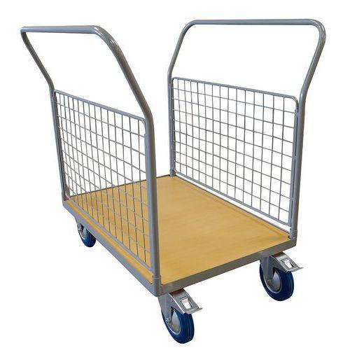Plateauwagen met 2 rugleuning mesh 250 en 500 kg