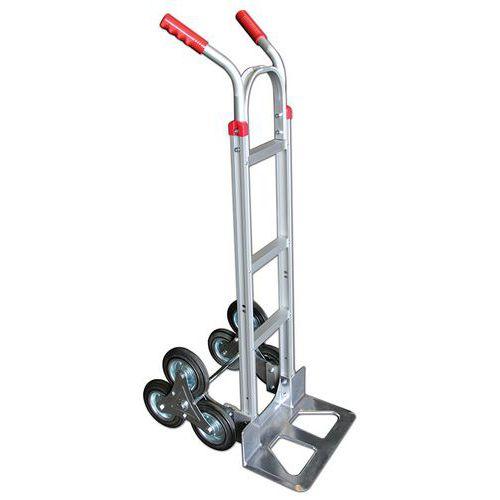 Steekwagen aluminium 3 wielen voor trappen