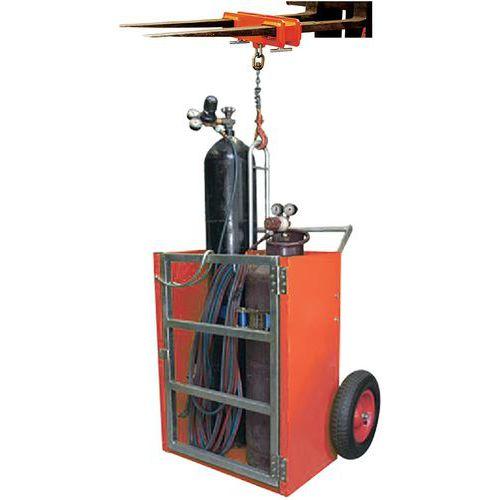 Steekwagen voor flessen met kabelbevestiging