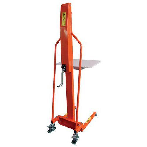 Stapelaar werkpositioneerder handmatig 100 en 200 kg