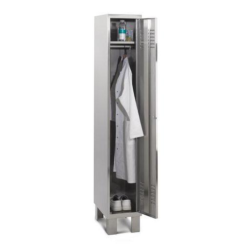 Garderobekast rvs 1 tot 3 kolommen - Lichte industrie - Op poten