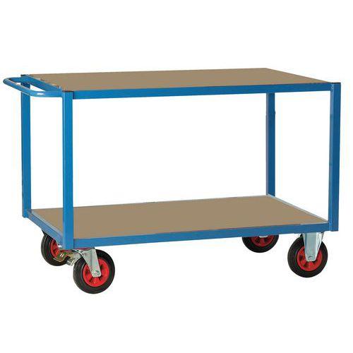 Wagen met 2 houten plateaus - Draagvermogen 500 kg - FIMM