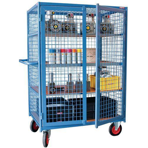 Hoge gaaswandwagen - 3 zijden met deksel en deuren - Draagvermogen 500kg - FIMM