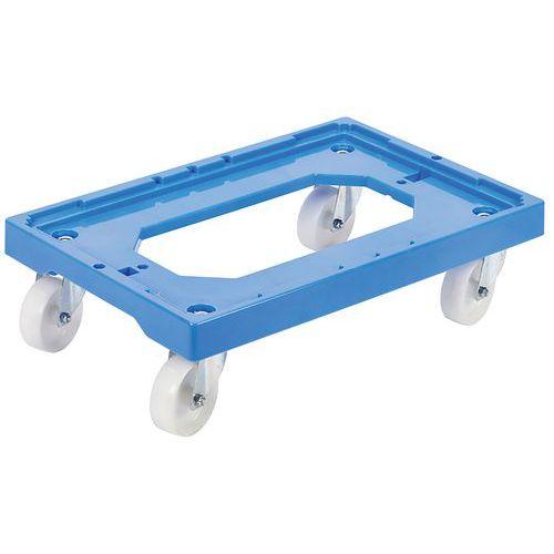 Onderzetwagen met 4 zwenkwielen blauw - GILAC