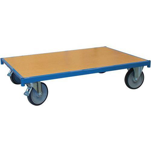 Rolplateau hout met wielen - Rechthoekig - Draagvermogen 500kg - FIMM