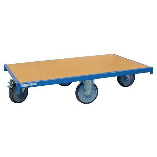 Rolplateau hout met wielen - Ruitvorm - Draagvermogen 500kg - FIMM