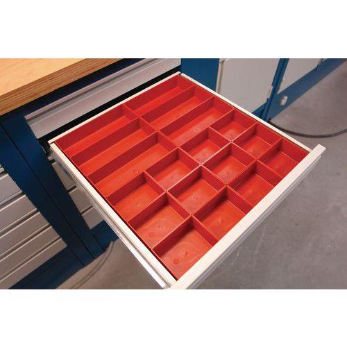Kunststof lade-indelingsset - 18 Bakjes