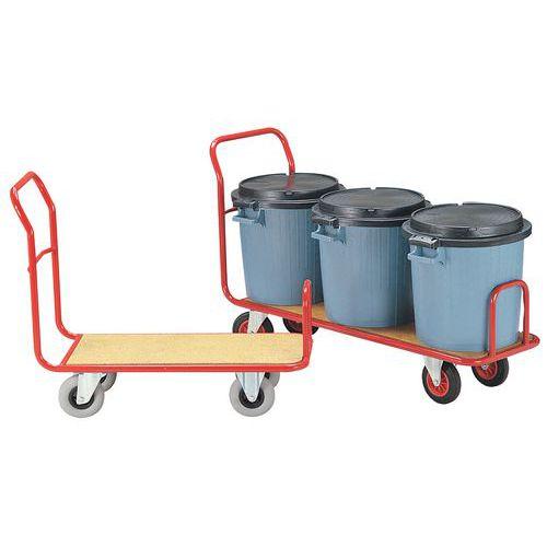 Plateauwagen voor omvangrijke ladingen - Draagvermogen 250 kg