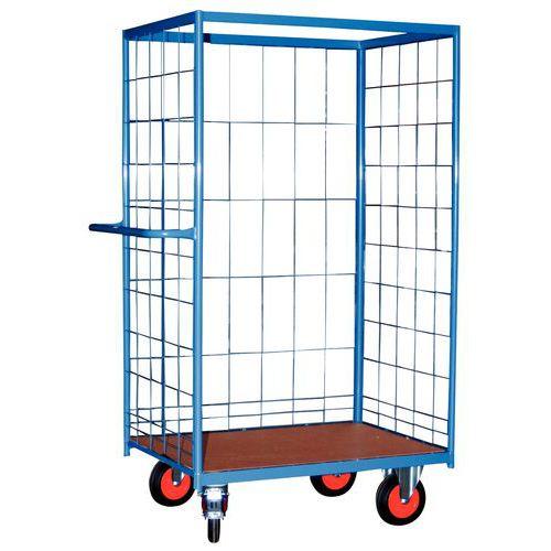 Pakketwagen - 3 rasterwanden - Draagvermogen 500 kg