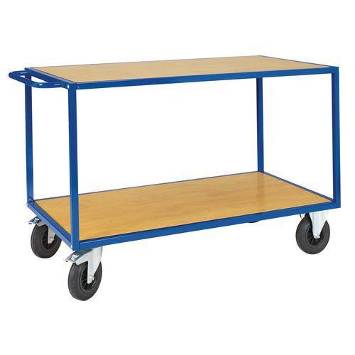 Tafelwagen met houten legbord - 2 legborden - Draagvermogen 500 kg
