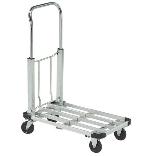 Inklapbare aluminium plateauwagen - Draagvermogen 150 kg