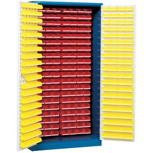 Kast met 320 stapelbakken - Hoog - Met ingerichte deuren