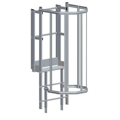 Veiligheidskooi voor bovenuitgang voor kooiladder - Tubesca