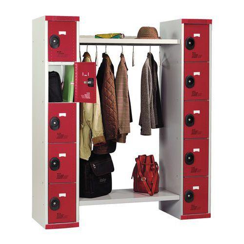 Garderobekast 10 vakken en kledingstang Seamline® - Lengte kledingstang 960 mm