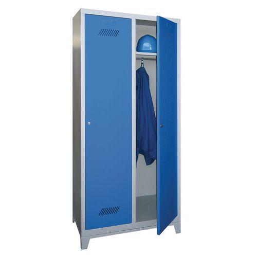 Garderobekast Medium 400 - Op poten - Schone industrie - Cilinderslot - 2 kolommen