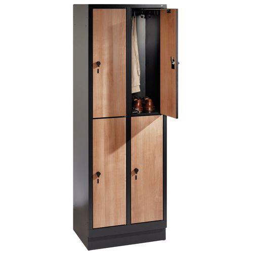 Houten garderobekast met 4 tot 8 vakken Evolo II - 2 tot 4 kolommen breedte 400 mm