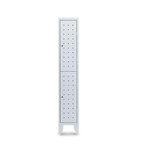 Garderobekast met 2 vakken Design - 1 kolom breedte 300 mm - Op poten