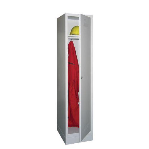 Garderobekast Medium 300 - Op sokkel - Schone industrie - Cilinderslot - 1 kolom