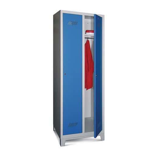 Garderobekast Medium 300 - Op poten - Schone industrie - Cilinderslot - 2 kolommen