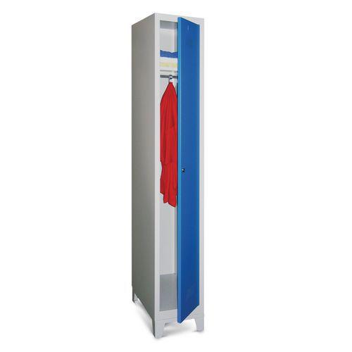 Garderobekast Medium 300 - Op poten - Schone industrie - Cilinderslot - 1 kolom