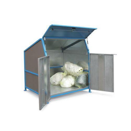 Overkapping voor afvalcontainers Secomat - 3 wanden, deuren