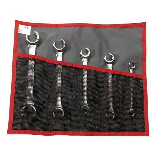 Set metrische ringsleutels - Kop in een hoek van 15°