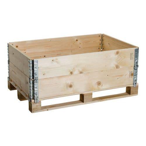 Opzetrand pallet hout ISPM 15 - scharnierend