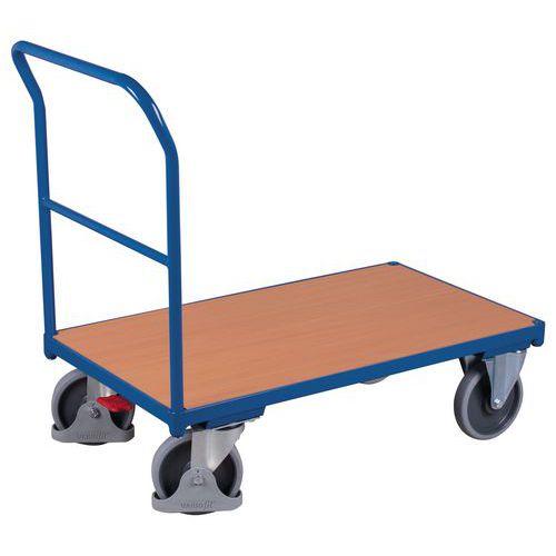 Wagen met stalen buisframe - 1 vaste duwbeugel - Draagvermogen 400 tot 500 kg
