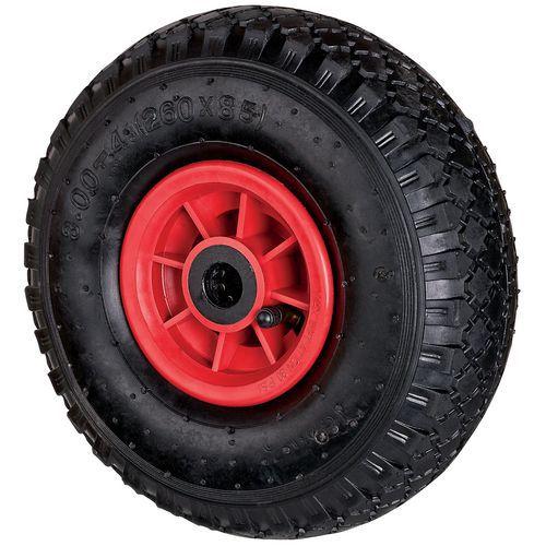Wiel in massief rubber - Draagvermogen 150 kg