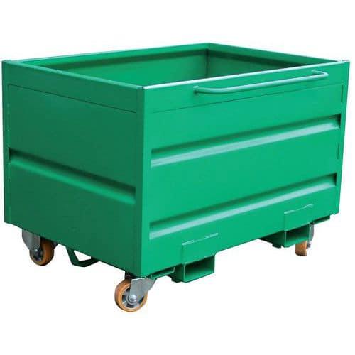 Kiepcontainer - Voor heftruck - Op sokkel of op wielen - 750 L