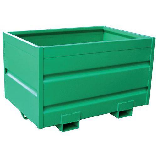 Kiepcontainer - Voor heftruck - Op sokkel of op wielen - 1750 L
