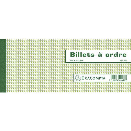 Orderbriefboek NF K 11080 50 bladen-Horizontaal Exacompta