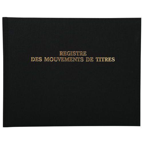 Register 24x32cm-kasbewegingen 100 pagina's-Exacompta