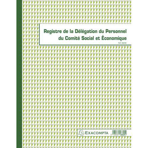 Register van de medezeggenschap 30 pagina franstalig Exacompta