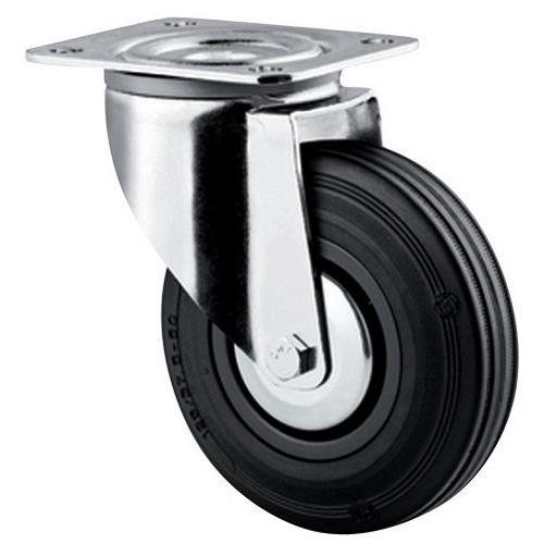 Zwenkwiel met grondplaat - Draagvermogen 35 tot 200 kg