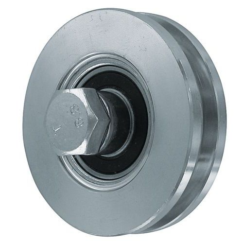 Verzint stalen wiel met rechthoekige groef - Draagvermogen 150 tot 425 kg