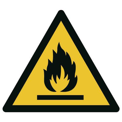 Gevaarteken   Brandgevaarlijke stoffen   Hard