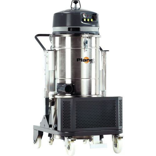 Industriële stofzuiger 3000 W driefasig rvs 100 l - ICA