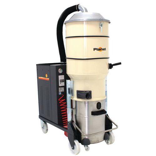 Industriële stofzuiger 7500 W driefasig rvs 100 l - ICA