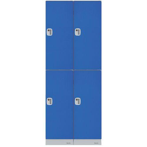 Kunststof garderobekast met meerdere opbergvakken - Hoogte vak 474 mm - Zelf te monteren - Manutan