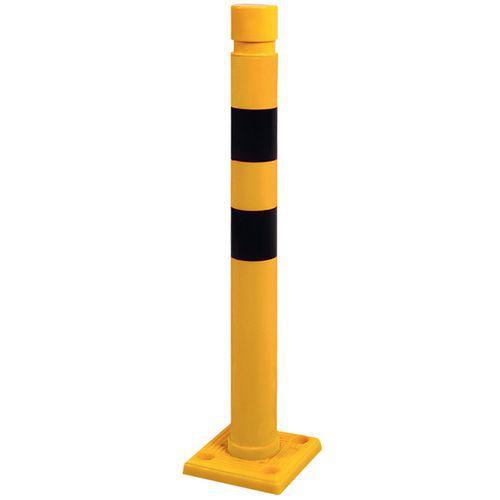 Paal geel en zwart - Ø 80 mm - H 750 mm