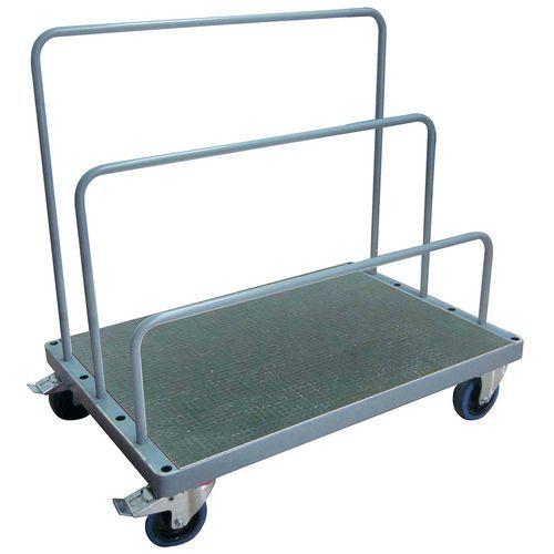 Wagen met zijwanden van buisconstructie - Draagvermogen 500kg - Manutan