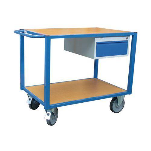Gereedschapswagen - 2 houten plateaus en 1 lade - Draagvermogen 500kg - FIMM