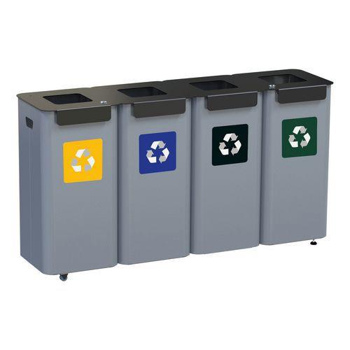 Set recyclingbakken, metaal en flexibel