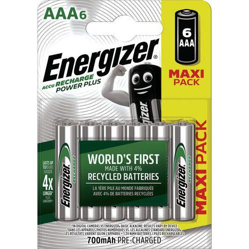 Batterij Power Plus AAA voorgeladen - 700 mAh - set van 6 - Energizer